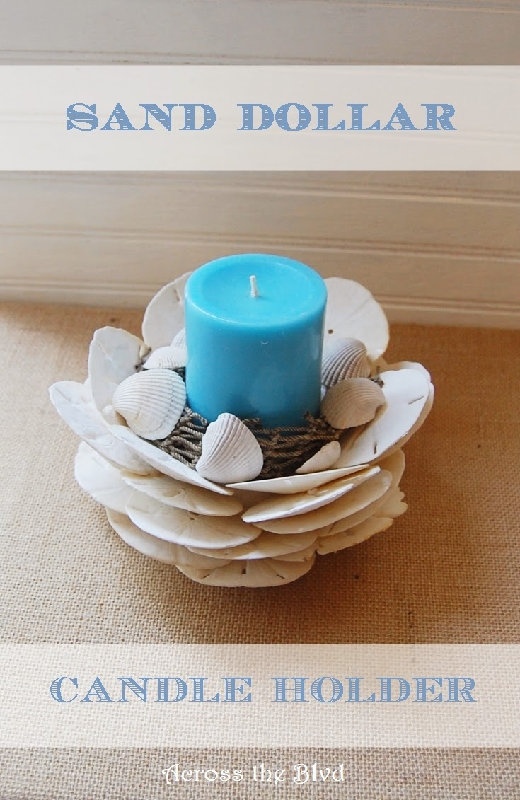 Sand Dollar Candle Holder   Across the Blvd