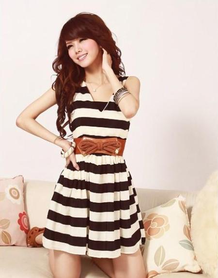 Đầm sọc thời trang
