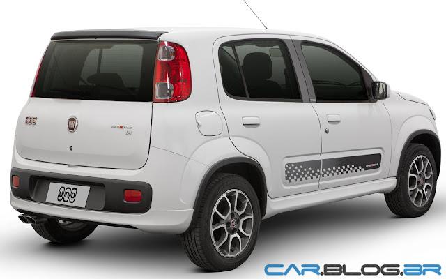 Fiat Uno 2013 Sporting traseira - branco