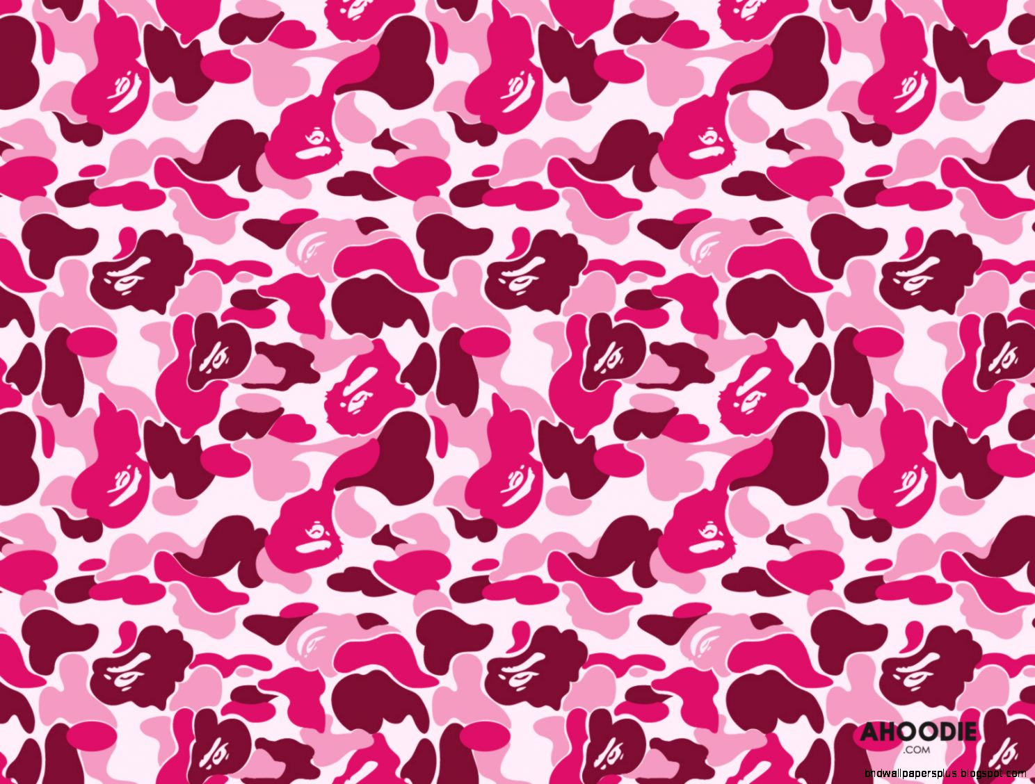 Pink BAPE Camo Wallpaper Desktop