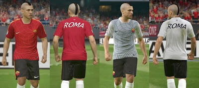 PES 2015 AS Roma 14/15 Training kits pack by IDK