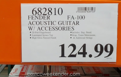Deal for the Fender FA-100 Acoustic Guitar Pack at Costco
