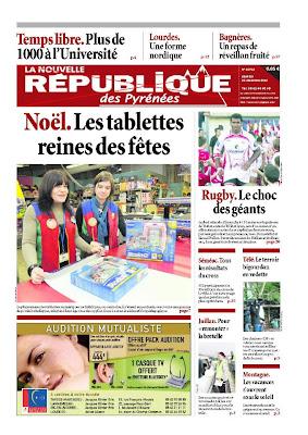 La Nouvelle République des Pyrénées du samedi 22 décembre