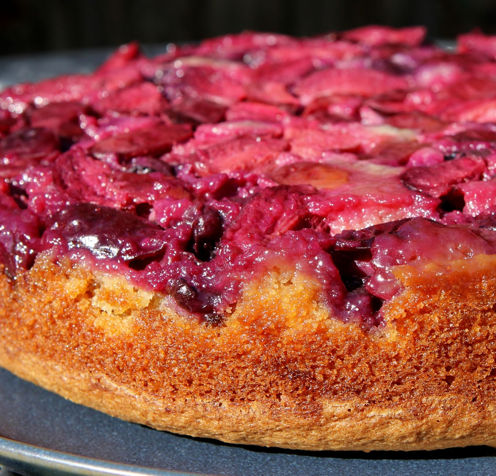 Gluten Free Alchemist: Plum & Blueberry Upside Down Cake ...