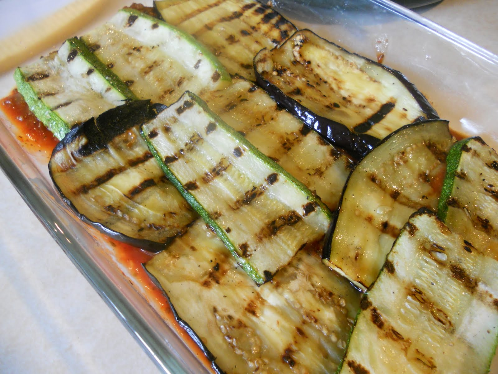 Grilled Eggplant and Zucchini Lasagna - Just~One~Donna