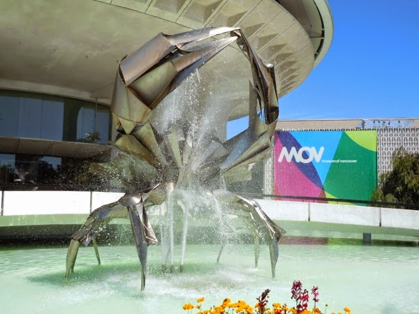 Norris Stainless steel crab sculpture Vancouver