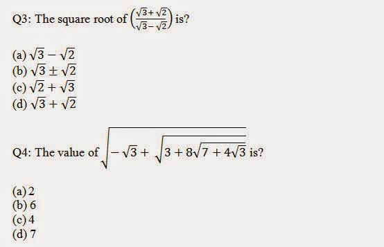 Square Root and Cube Root Questions and Answers