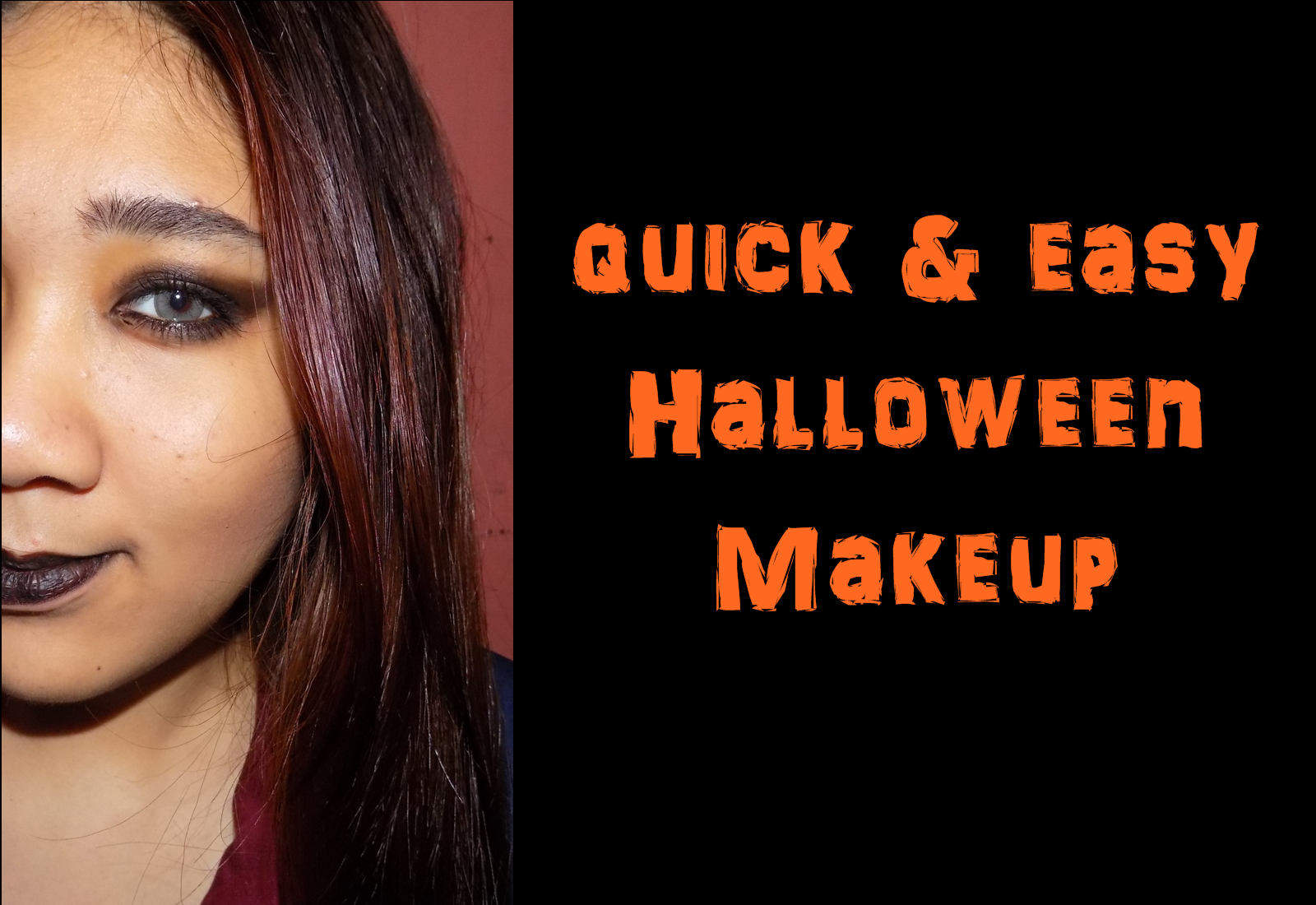last minute halloween makeup simplequick and easy witch makeup