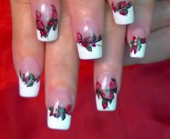 Nails Art Like Red Rose