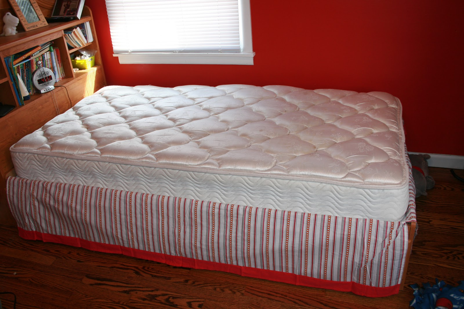 Ideal Here is a step by step putting it on the bed starting with the bed skirt