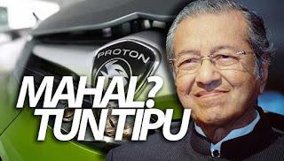 Mahathir menipu tuduh kerajaan punca Proton mahal – blog UMNO