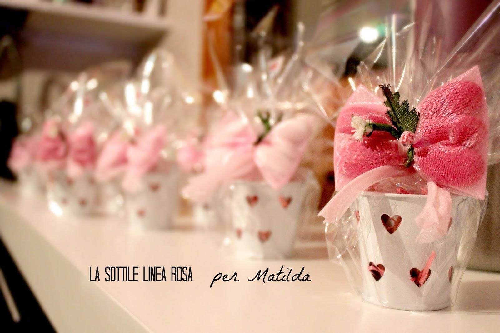 spesso Battesimo Matilda: bomboniere & co. - La Sottile Linea Rosa LC88