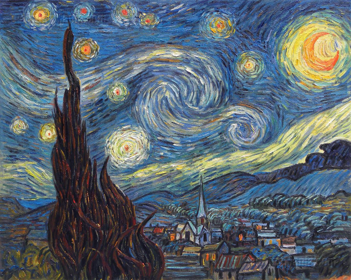 It is a picture of Lucrative Starry Night Printable
