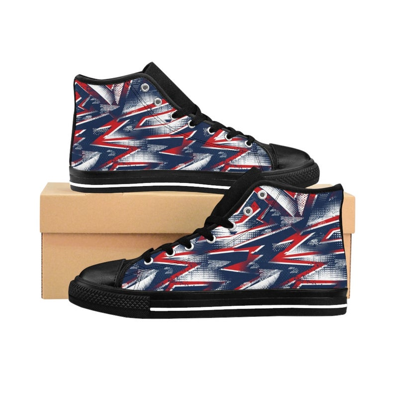 Men's Denim High-top Sneakers