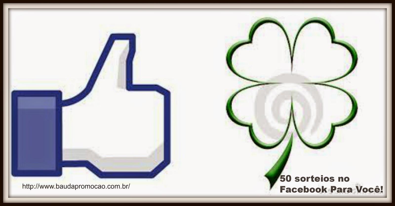52 Sorteios no Facebook para você concorrer a vários prêmios!