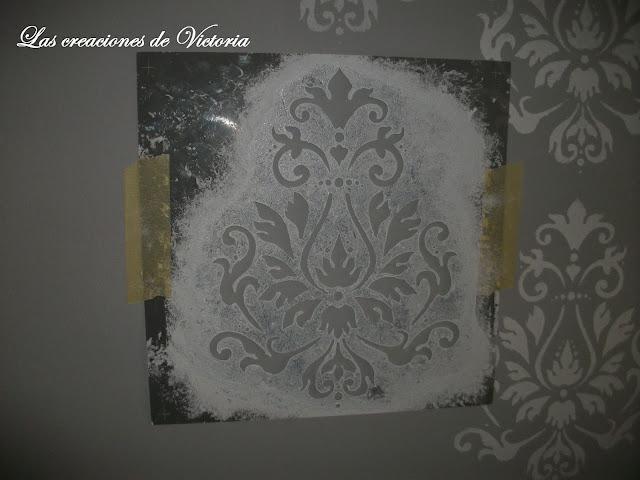 Las creaciones de Victoria. Stencil en dormitorio