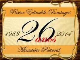 26 ANOS DE MINISTÉRIO PASTORAL