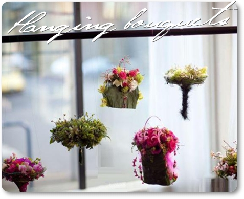 blomsterväska, väska istället för brudbukett