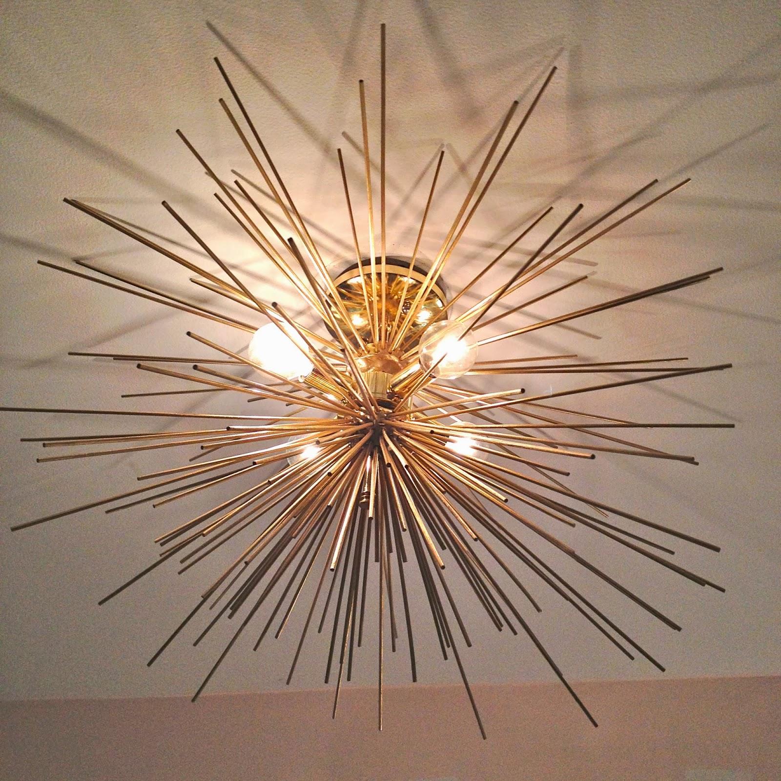Gorgeous Shiny Things Diy Brass Urchin Light Fixture