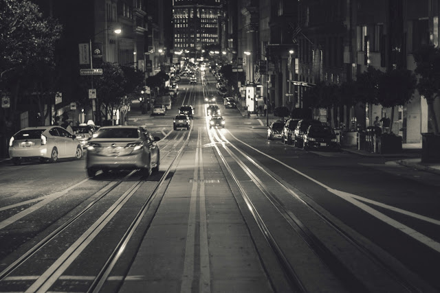 Random black and white photo of city