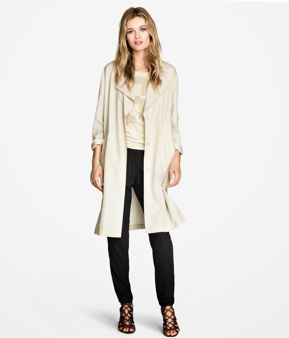 cream loose coat