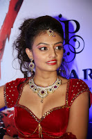 Nikitha Narayan spicy Designer Red Chania Choli at Fashionology Fashion Show 2013