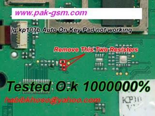 LG KP107b AUTO ON KEY PAD PROBLEM TESTED