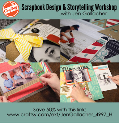 Scrapbooking Class with videos and #scrapbooking sketches created by Jen Gallacher. Click here for more information: www.craftsy.com/ext/JenGallacher_4997_H