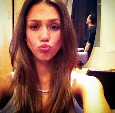 funny Jessica Alba selfie hot