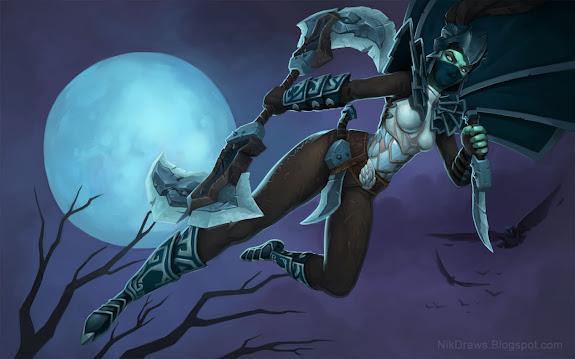 mortred phantom assassin dota 2 game girl hd wallpaper , image ...