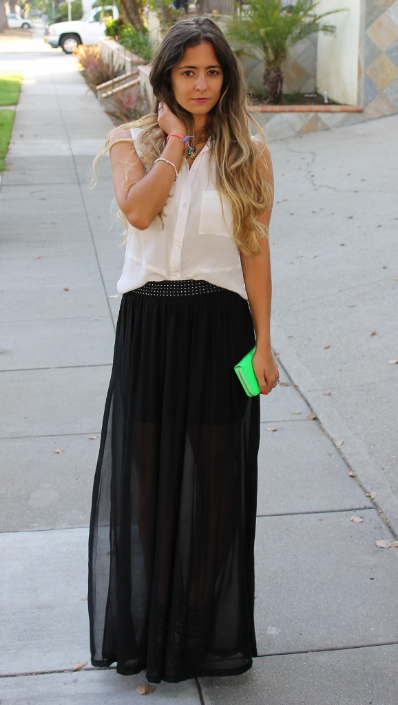 Sheer Maxi SKirt. How To Wear A Sheer Maxi Skirt. H&M Sheer Skirt.