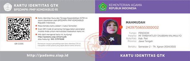 Kartu NUPTK 2014/2015 Semester 2
