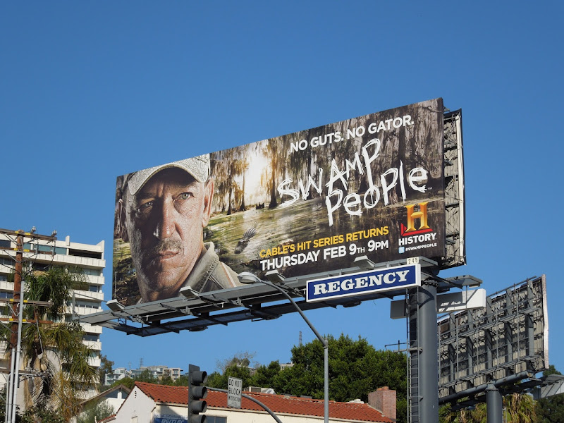 Swamp People 3 History Channel billboard