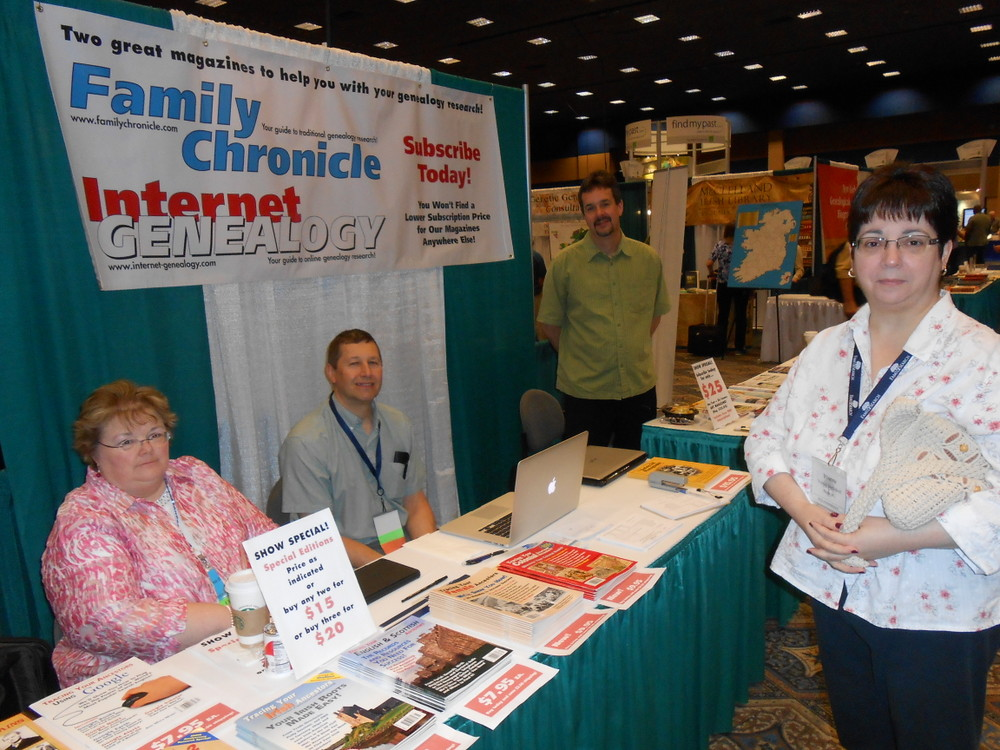 Family Chronicle and Internet Genealogy booth