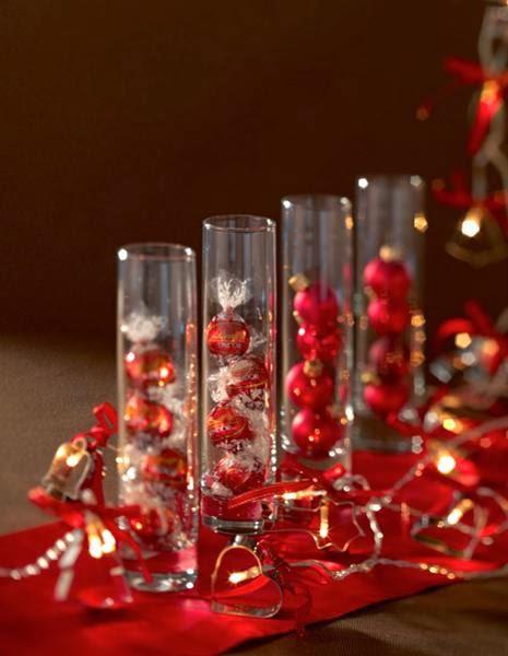 Centros de mesa de navidad rojos parte 1 - Mesas de navidad decoradas sencillas ...