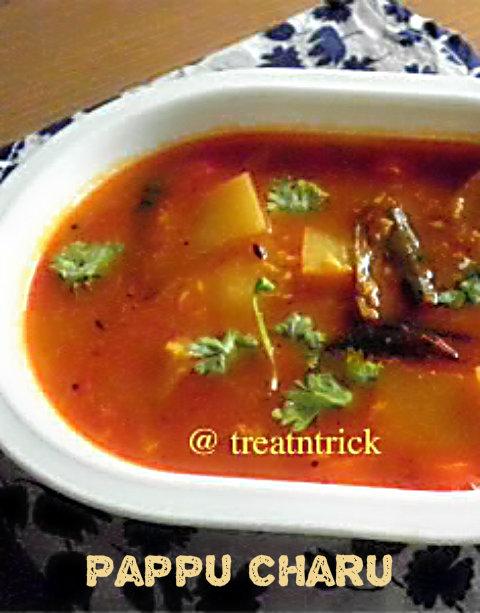 Paqppu Charu Recipe @ treatntrick.blogspot.com