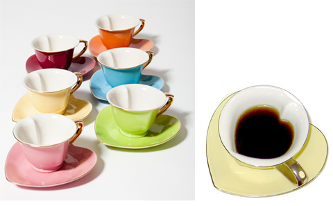 the big green cup tasse de caf originale coeur. Black Bedroom Furniture Sets. Home Design Ideas