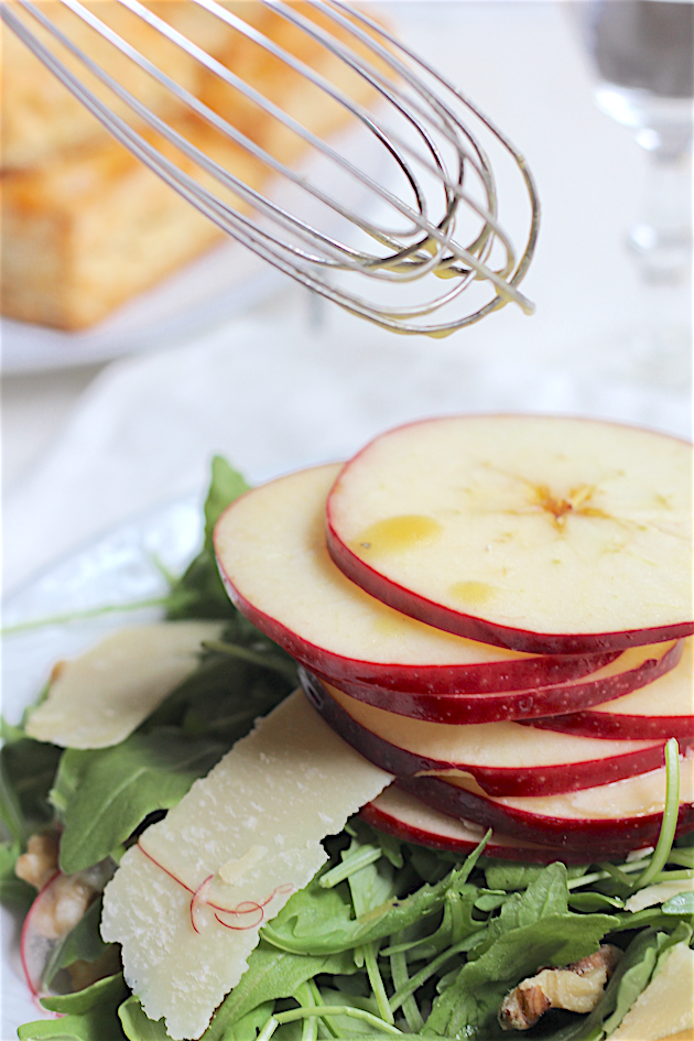 Stacked Apple, Parmesan, and Walnut Salad | Savor Home