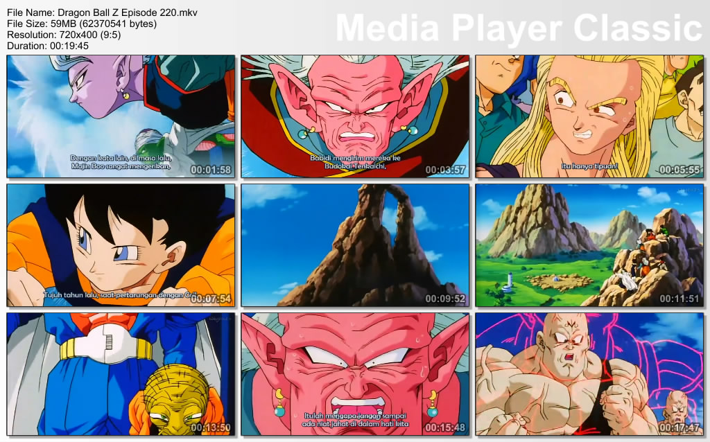 Download Film / Anime Dragon Ball Z Majin Buu Saga Episode 220 Bahasa