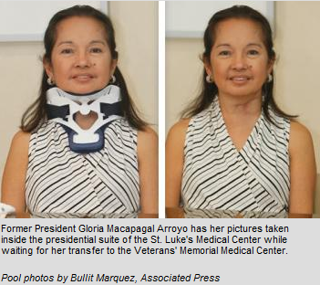 Gloria Macapagal Arroyo Veterans Transfer