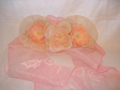 Hand-made Rose Bridal Belt Sash Pearl Embellished, Women's Accessories