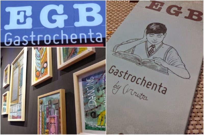 Carta, decoración en Restaurante EGB de Gijon