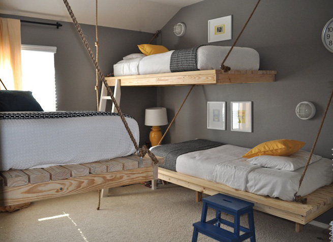 Mueblesdepaletsnet Literas hechas con camas colgantes