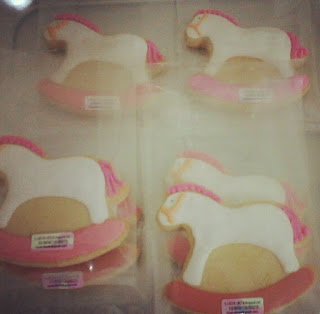 rocking horse aqiqah baby fancy cookies
