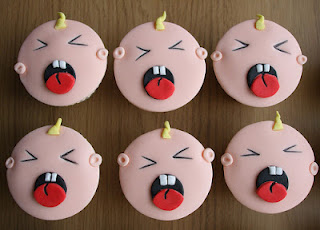 Crying baby cupcakes