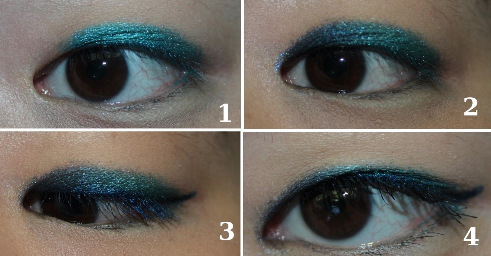 blog beaut mon maquillage bleu vert avec la palette 15th anniversary. Black Bedroom Furniture Sets. Home Design Ideas
