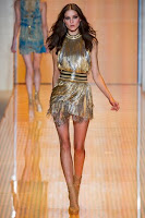 блестяща рокля с ресни Versace