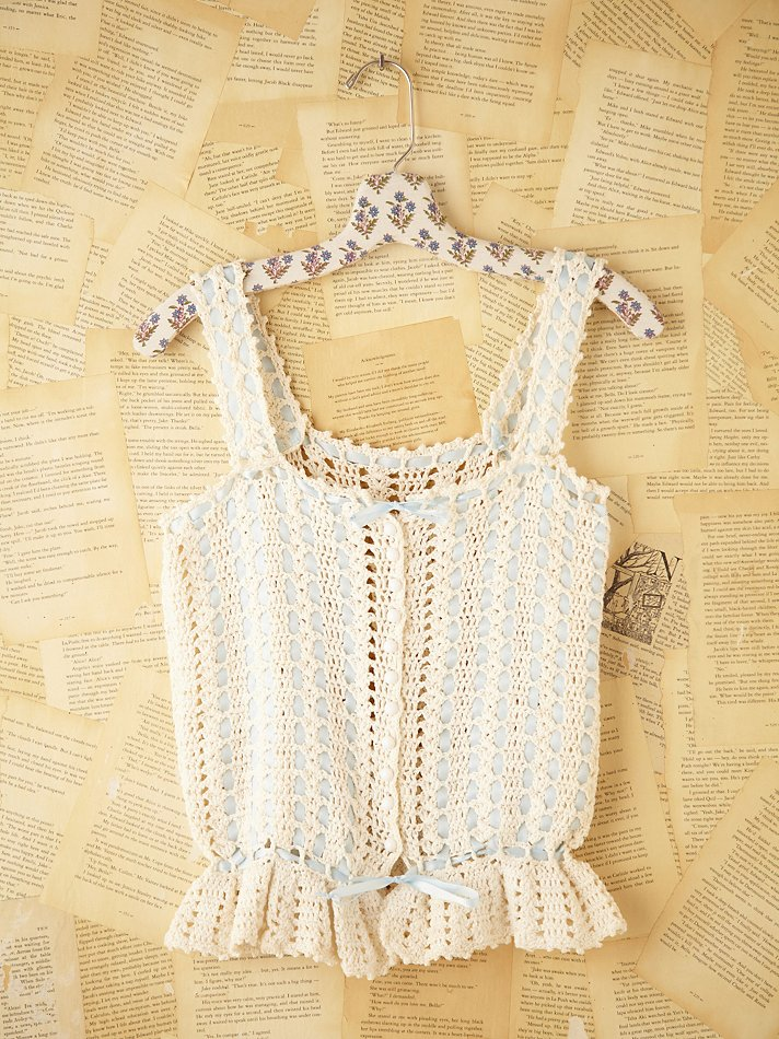 Free Crochet Pattern For Baby Tank Top : Crinochet: Free People Connected in Crochet Fringe Dress