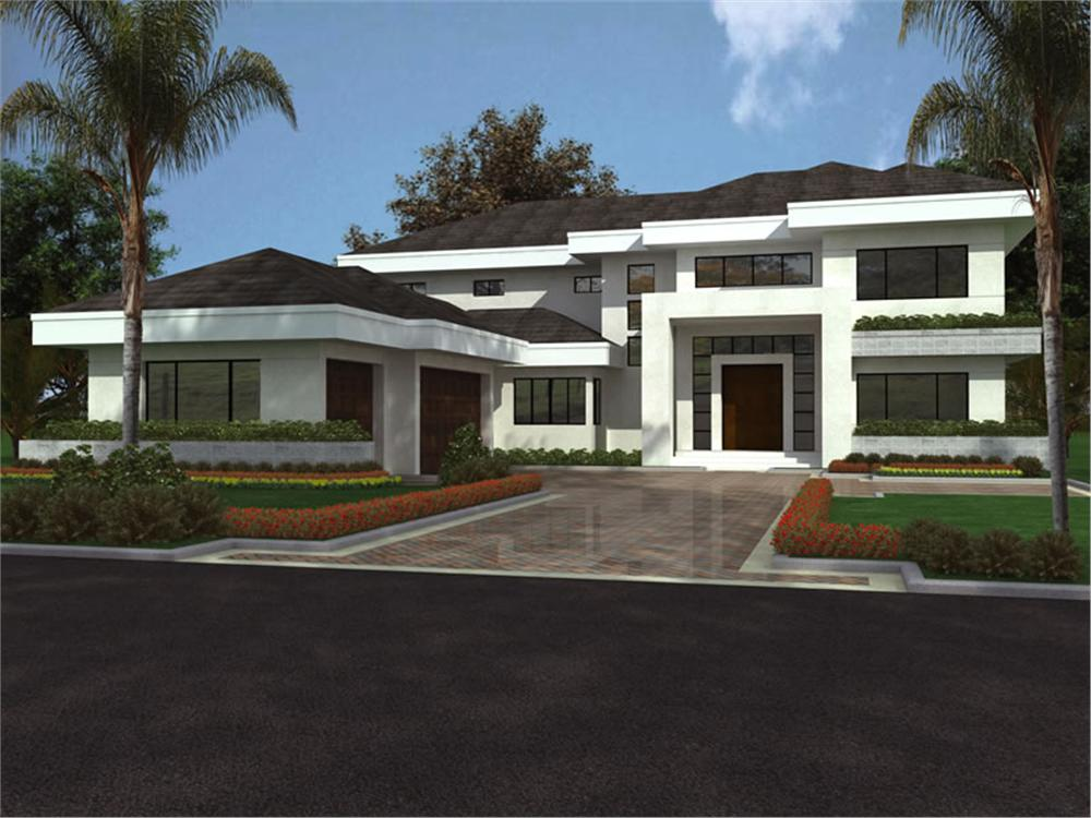 Design modern house plans 3d for Modern villa house design
