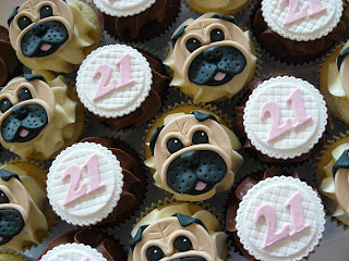Brisbane Pug Cupcakes